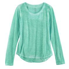 Girls 7-16 & Plus Size SO® Core Tee, Size: 12 1/2, Turquoise/Blue (Turq/Aqua)