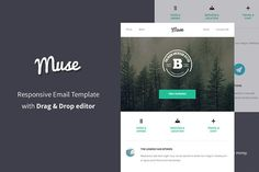 Muse - Responsive Email + Builder by BrainSignal on @creativemarket