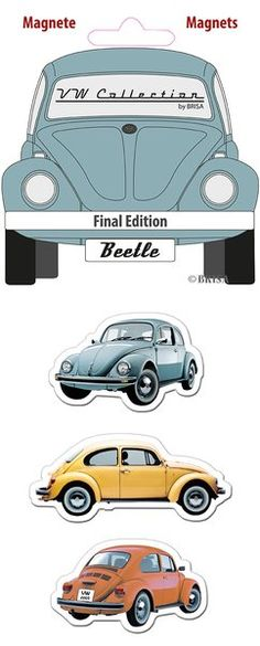 The Original VW Beetle Magnets-Final Edition