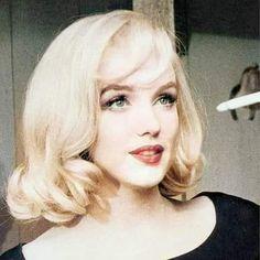 Marilyn Monroe Portrait, Marilyn Monroe Photos, Marilyn Monroe Hairstyles, Marilyn Monroe Haircut, Estilo Marilyn Monroe, Marylin Monroe Style, Bombshell Hair, Short Blonde, Norma Jeane