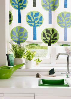 Decoração verde e branco na cozinha