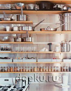 кухня с открытыми полками - Поиск в Google