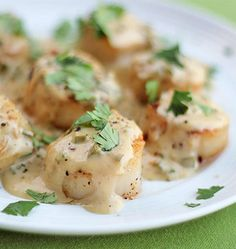 Sea Scallops in a Bourbon Jalapeno Cream Sauce