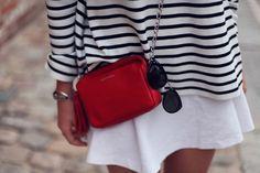 stripes red bag