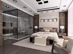 chambre à coucher moderne, belle idée deco chambre adulte