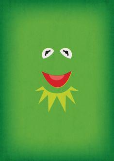 The Muppets Show Vintage Art Kermit the Frog Retro Style Minimalist Poster Print Art Print Muppet Babies, Miss Piggy, Disney Art, Disney Pixar, Die Muppets, Sapo Kermit, Fraggle Rock, The Muppet Show, Kermit The Frog