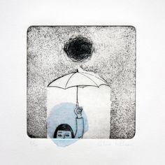 Happens rain by fabriqueenpapier on Etsy