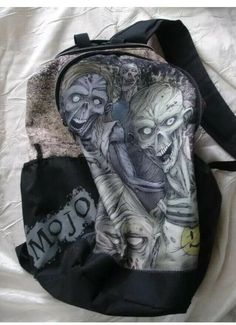 529d0d9d8245 Details about Mojo Glow In The Dark Zombie Undead Backpack Bag
