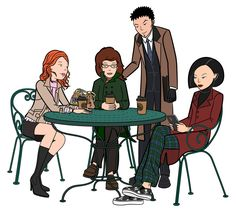 Daria, Quinn, Jane, and Trent all grown up. #Daria ( http://on.mtv.com/hAaNBj )