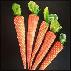 Fabric Carrots. via Etsy.