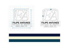 Projeto desenvolvido para Filipe Antunes (Corretor de imóveis). O projeto seguiu as especificações de acordo com o briefing respondido pelo cliente, aonde pediu a aplicação de suas inicias na composição da logo.
