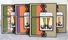 Best Witches Card Set By Shannon White #Cardmaking, #Halloween