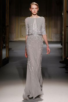 View all the catwalk photos of the Georges Hobeika haute couture spring 2013 showing at Paris fashion week. Couture Fashion, Runway Fashion, Fashion Show, Paris Fashion, Fashion Fashion, Grey Evening Dresses, Evening Gowns, Georges Hobeika, Beautiful Gowns