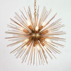 Zonnestraal hanglamp koper by Pot & Vaas - get the sun into your home Sunburst Clock, Ballard Designs, Beams, Home Goods, Chandelier, Ceiling Lights, Vintage, Inspiration, Home Decor