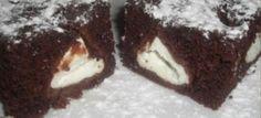 Brownie brownies s tvarohem Russian Recipes, Brownies, Muffin, Cooking Recipes, Sweets, Baking, Breakfast, Food, Polish
