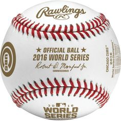 Chicago Cubs Rawlings 2016 World Series Champions Collectible Baseball in Cubed Case