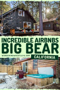 looking for places to stay in Big Bear, California? Here are 12 great airbnbs in Big Bear + top things to do in Big Bear during a California vacation! I where to stay in Big Bear I accommodation in Big Bear I Big Bear accommodation I Airbnbs in California I where to stay in California I California Airbnbs I places to stay in California I Big Bear vacation homes I California vacation rentals I things to do in California I USA travel I cabins in Big Bear I California cabins I #Caifornia #BigBear Usa Travel Guide, Travel Usa, Travel Guides, Travel Tips, Big Bear California, California Vacation, East Coast Road Trip, Road Trip Usa, Amazing Destinations