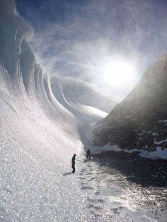 Beautiful frozen wave in Antarctica...not necessarily on my bucket list.. but stunning nonetheless