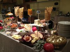 Hey Brides, what if you had a cheese spread for your desert table with chocolates and fruit?