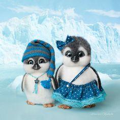 Nedle felted pinguins Sasha and Dasha OOAK Novosibirsk, Russia Natalia Kravtsova trinny_86@mail.ru