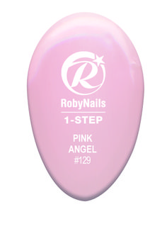 RobyNails 1-Step Gel Polish Pink Angel: delicate pastel rose for classy stylish women