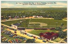 """Baseball by BSmile @BSmile  12h12 hours ago More  """"Air View of Boston Red Sox in Spring Training, Sarasota, FL"""" (vintage postcard) #RedSox #SpringTraining #MLB"""