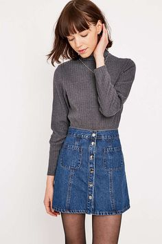 Urban Outfitters Brushed Turtleneck - Urban Outfitters