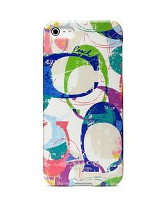 COACH Poppy Stamped C iPhone 5 Case | Bloomingdale's
