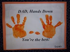 Father's Day Handprint Card