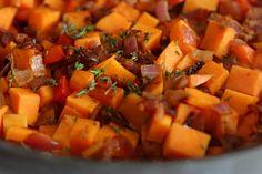Sweet-Potato Hash with Bacon