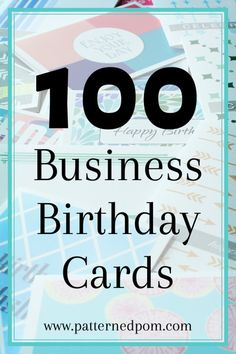 The Perfect Set Of Bulk Birthday Cards For Business Associates Or Clients All Styles Are