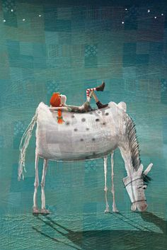 Alessia Mannini illustration portfolio - Illustrator specialised in editorial, publishing and children's book illustration. Represented by Sylvie Poggio Artists agency. Art And Illustration, Disney Paintings, Owl Paintings, Pippi Longstocking, Wow Art, Equine Art, Horse Art, Whimsical Art, Cute Art