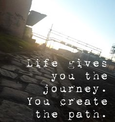 Check out my new PixTeller design! :: Life gives you the journey. you create the path. Tool Design, Paths, Journey, Social Media, Create, Beach, Check, Life, Outdoor