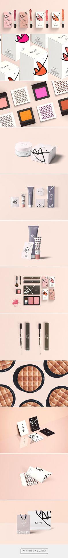 Kerri Cosmetic / Designed by Danielle Han Cool Packaging, Bottle Packaging, Cosmetic Packaging, Beauty Packaging, Brand Packaging, Packaging Ideas, Design Packaging, Product Packaging, Graphic Design Branding