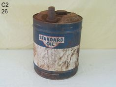 VINTAGE STANDARD OIL COMPANY KENTUCKY KYSO 5 FIVE GALLON OIL GAS CAN OLD PIECE #StandardOil