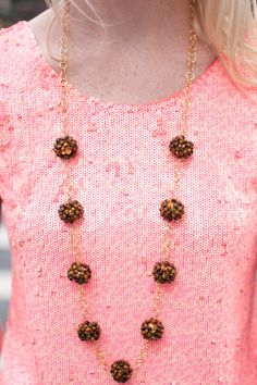 Upper East Side, NYC: Sequined Tops, Tiger's Eye Necklaces, and a Giveaway! - Kelly in the City