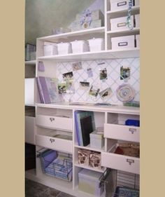 Utility Room Solutions - Laundry Room Storage - Playroom Organization Love the baskets at the bottom Carrie