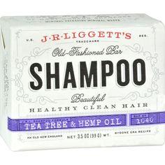 J.R. Liggett's Old-Fashioned Bar Shampoo Tea Tree and Hemp Oil Formula - 3.5 oz