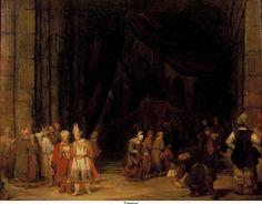 Aert de Gelder (1645–1727) De voorhof van een tempel.  (1679, Koninklijk Kabinet van Schilderijen Mauritshuis) Внешний двор храма, 1679, Маурицхёйс, Гаага