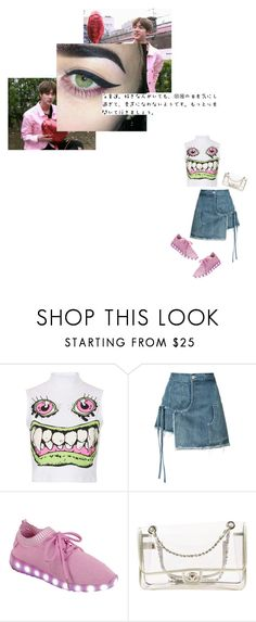 """""""Untitled #4"""" by ulzzwng ❤ liked on Polyvore featuring Tee and Cake, Sandy Liang, Forever Link and Chanel"""