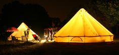 Another bell tent, Boutique Camping. I like.
