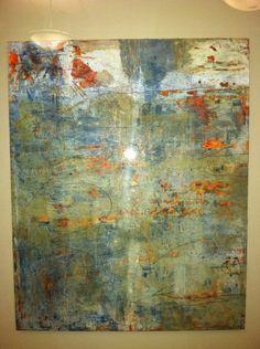 Lynda O'Connor Lyons  oil and cold wax mixed media on multi  purpose board