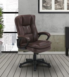 This desk chair provides a professional appearance while giving superior soft seating.  Featuring easy seat adjustments, this chair provides strength and durability for everyday use. Sleek and durable, this seat adds the perfect accent to your office area.