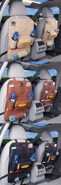 US$12.07 Car Storage Bag Pu Leather Hanging Bag Multi-functional Carriage Bag