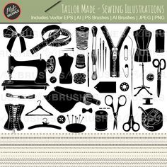 Tailor Made - Sewing Illustrations and PS Brushes
