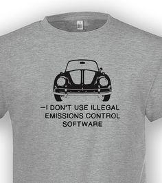 Funny parody tshirt vw diesel scandal beetle classic 1302