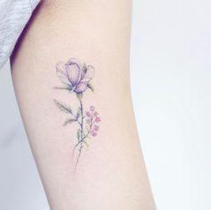 Delicate floral piece by Mini Lau