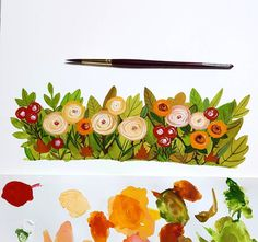 Gouche Painting, Happy March, Gouache, Instagram Posts, Illustration, Flowers, Illustrations, Royal Icing Flowers, Flower