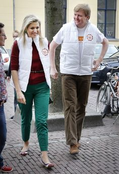 Just Asking Royal Questions:  Crown Prince Willem-Alexander and Crown Princess Maxima of The Netherlands volunteering at the Bison Bowlingclub for NL Doet at the Foundation Daycare 3/15/2013