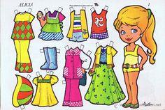 Recortables de muñecas Alicia. Colección completa 10 láminas . Manualidades Recreativas (IMA, 1975) - Foto 1